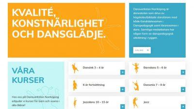 Skärmdump av Dansverkstans hemsida