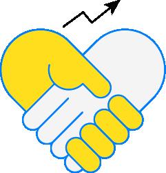 Ikon händer som skakar hand