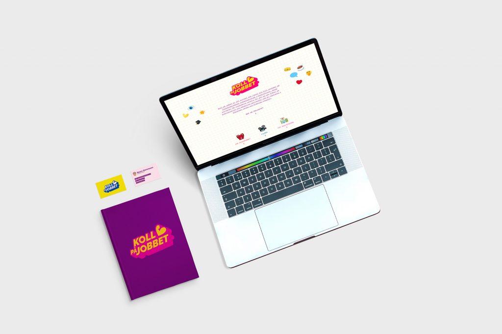 Koll på jobbet - hemsida och tryckt material