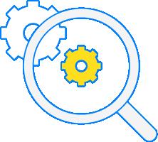 Symbol för research