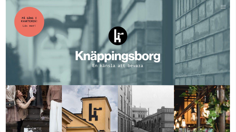 skärmdump från kvarteret knäppingsborgs hemsida