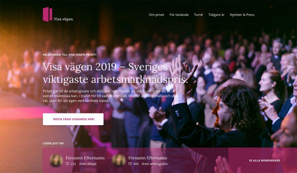 skärmdump från hemsidan visa vägen