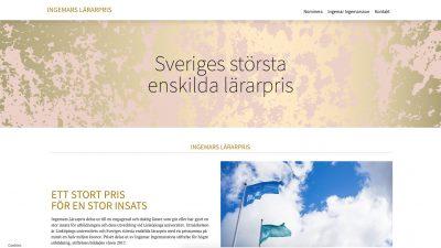 skärmdump från hemsidan för ingemars lärarpris