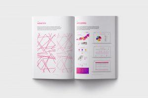 Ett uppslag från mAnalyze grafiska manual