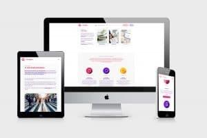 Olika skärmar som visar mAnalyze hemsidan
