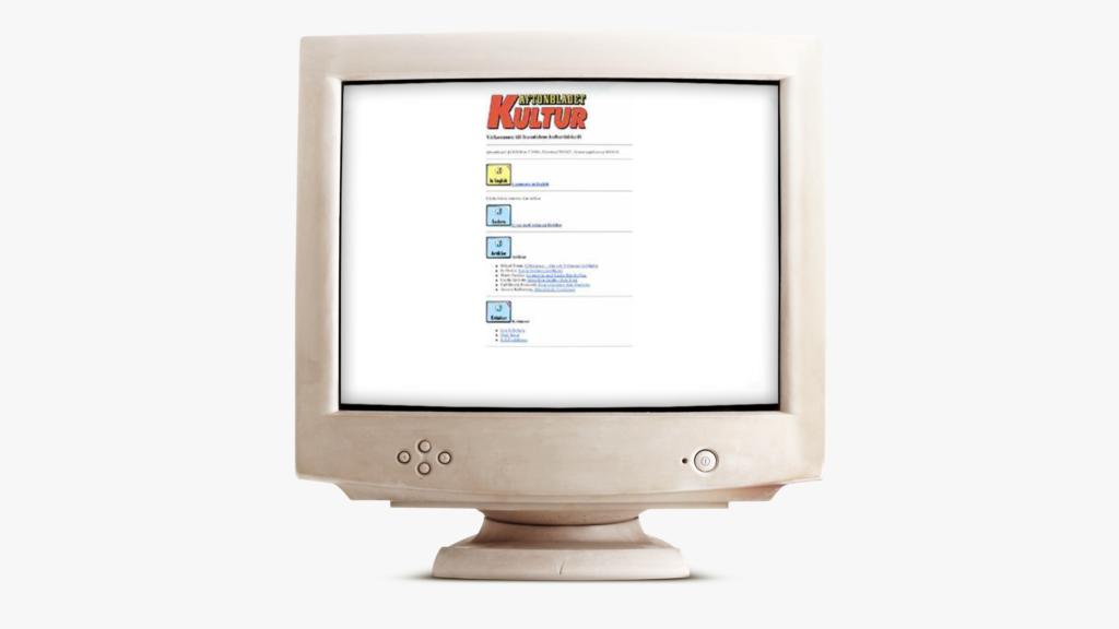 AftonbladetKultur från 1994, placerad i en gammal dator.